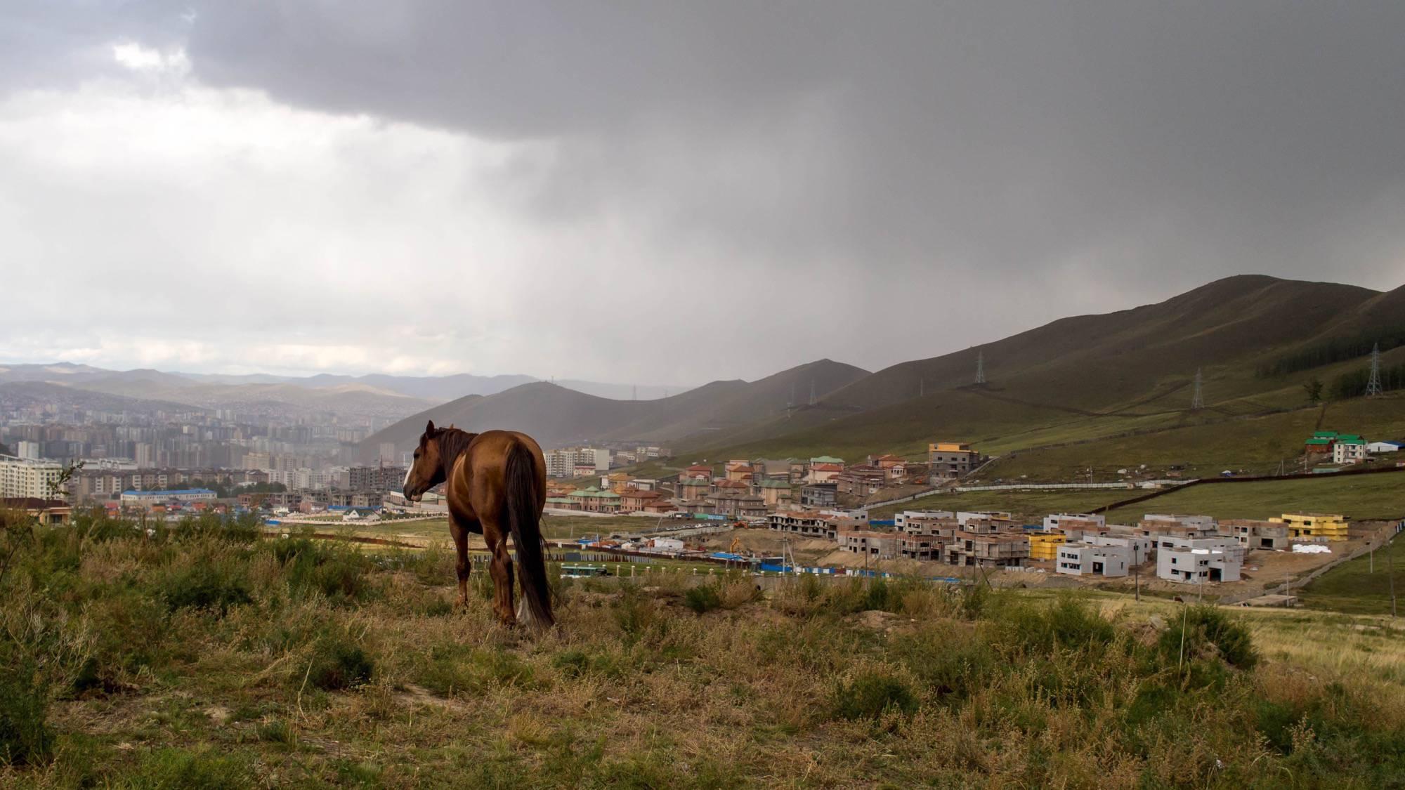 View on Ulaanbaatar from Bogd Khan
