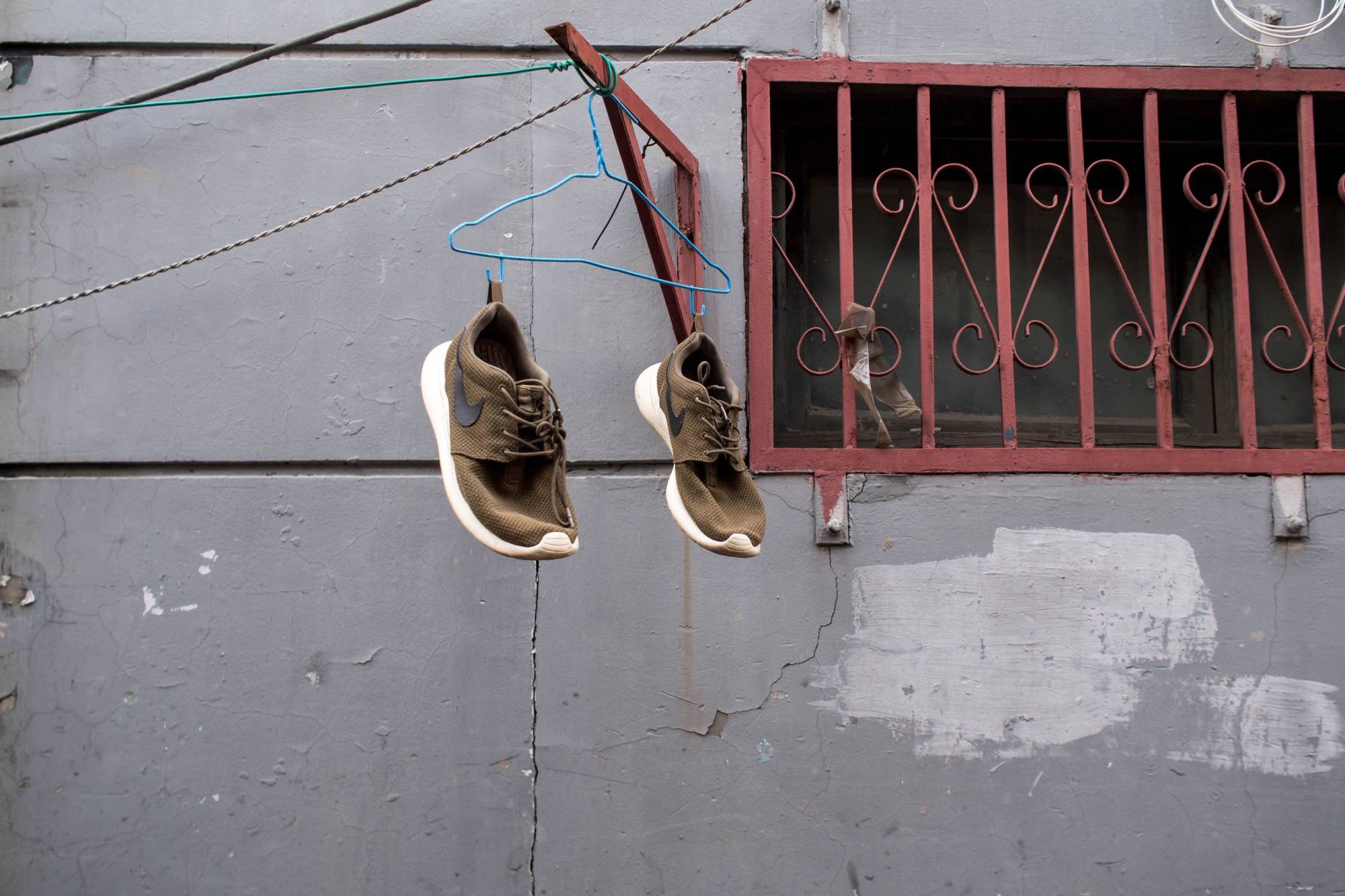 Shoes in a Beijing Hutong